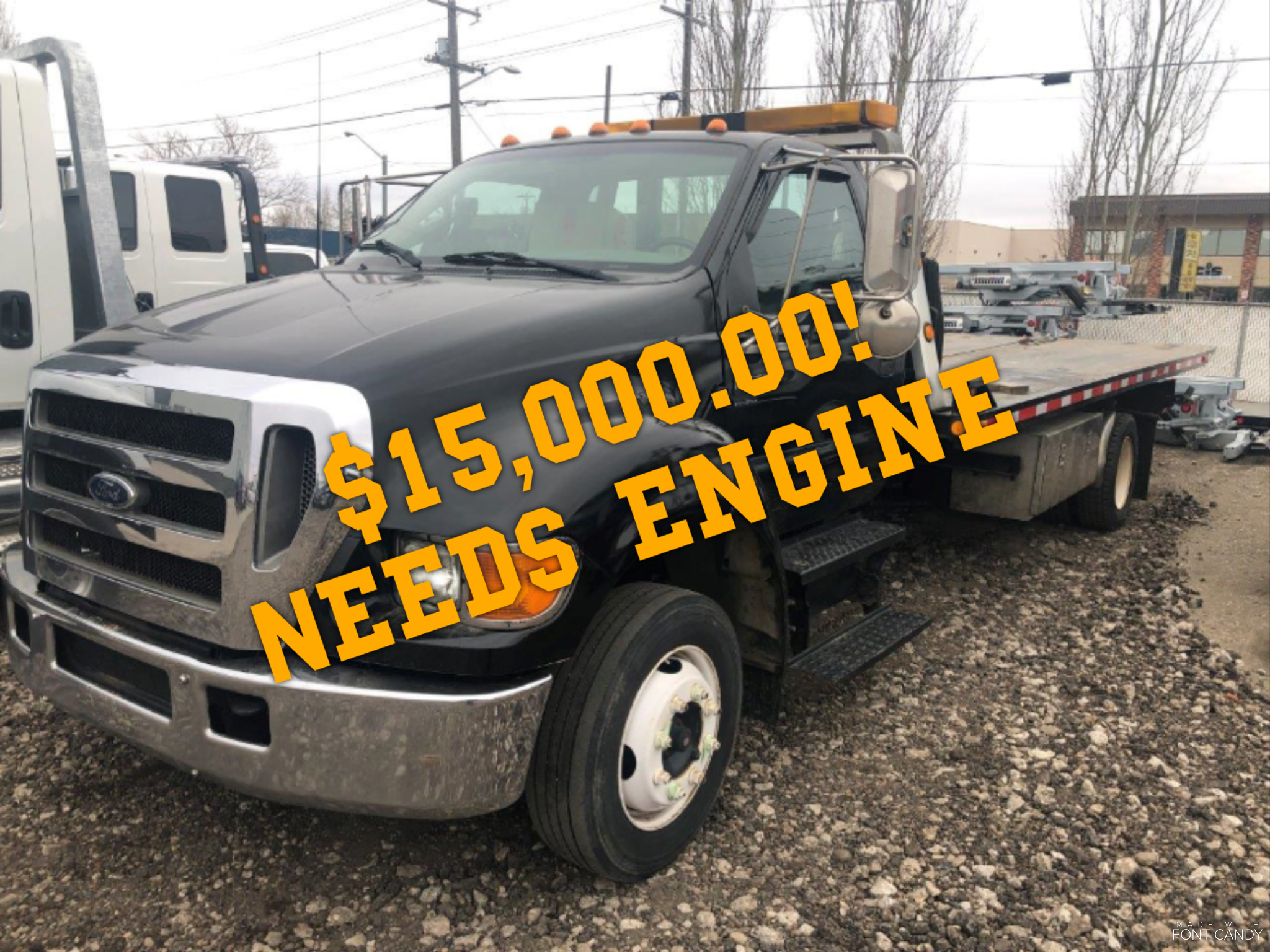 2004 FORD F-650 W/ CAR CARRIER  ** MECHANICS SPECIAL*NEEDS ENGINE*  STOCK#2287