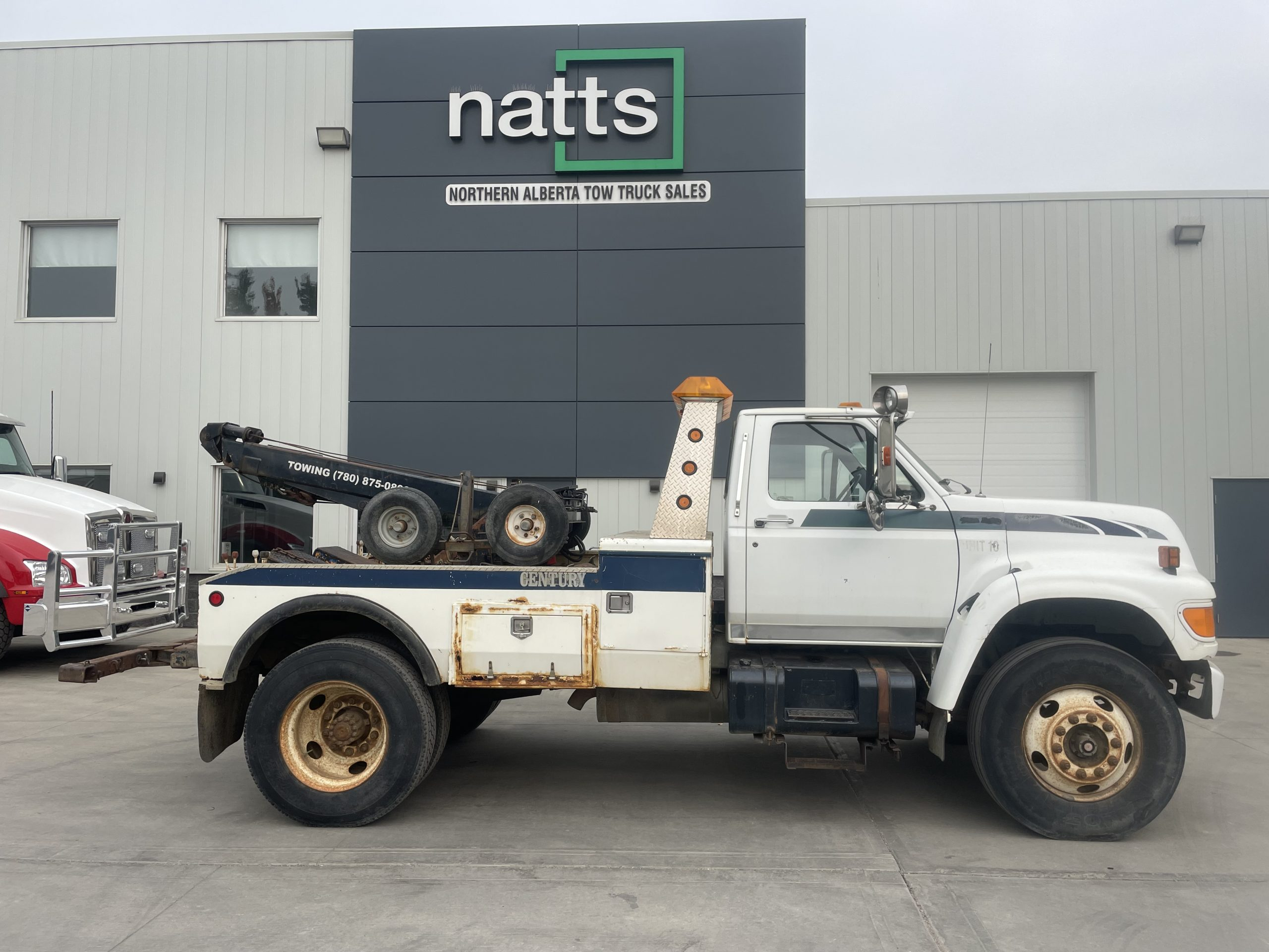 1995 FORD F600 W/ CENTURY TWIN LINE – STOCK #2729